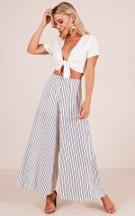 Revolution pants in white stripe