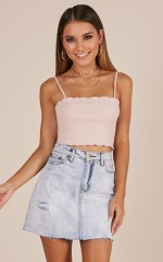 Entire Week top in blush