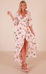 Slipped Away dress in blush floral