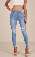 Renee skinny jeans in mid wash