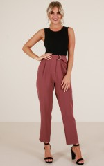 Say Its True pants in plum