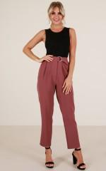 Say Its True pants in plum