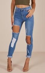 Jade skinny jeans in mid wash