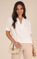 Save You Tonight top in white