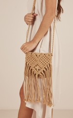 Anywhere I Go macrame bag in natural
