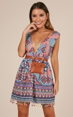 Surrender To The Night Dress in Multi Print