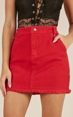 Keep A Secret skirt in red