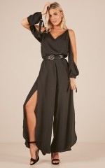 Clean and Simple jumpsuit in Black
