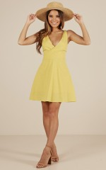 Fallen For You dress in yellow