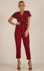 No Limits jumpsuits in wine