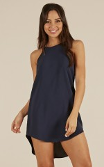 Against The World dress in navy