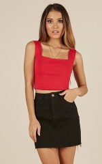 Bonbon Top in Red