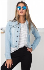 Fashion Killa jacket in light wash denim