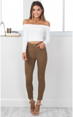 Fill Me In jeggings in camel