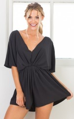 Three Little Words playsuit in black