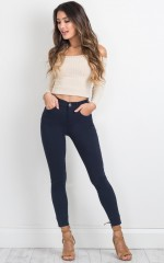 Fill Me In jeggings in navy