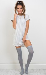 Schools Out knee high socks in grey marle