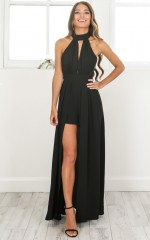 Don't Rain On My Parade playsuit in black