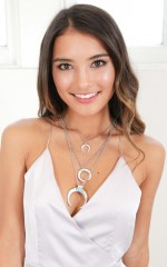 In The Crescent 3 pc necklace in silver