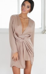 Dressed To Kill dress in camel
