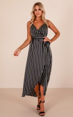 Easy Life dress in navy stripe