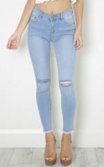 Jenny skinny jeans in light wash