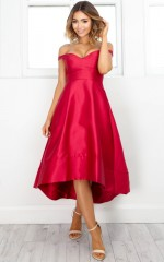 Buy Me A Drink dress in red
