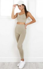Believe It Tights in Khaki