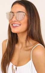 Sunday Times sunglasses in clear and pink