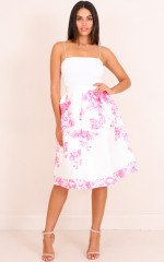 Forever Falling skirt in pink floral