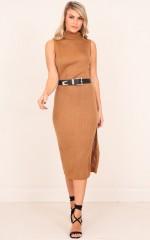Autumn Spice dress in camel