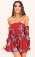 Give Me A Reason playsuit in wine print