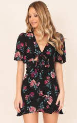 Used To Be Mine dress in black floral