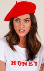 Paris Nights beret in red