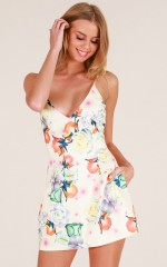 Loving Embrace dress in cream floral