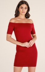 Demure Doll dress in wine