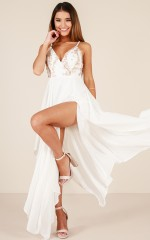 Living Through You dress in white