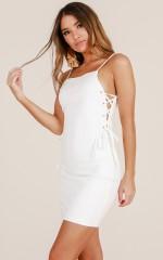 Looking Like Revenge dress in white