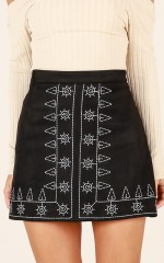 Soul Sister skirt in black embroidery