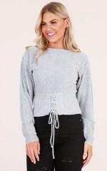 Heavy Heart Knit in Grey Marle