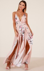 One More Dance jumpsuit in blush floral