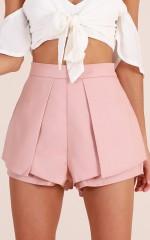 Compare The Flare shorts in blush