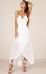 Oriental Passion maxi dress in white embroidery