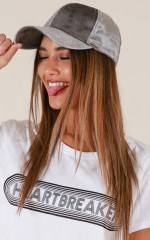 Velvet Dreams Hat in grey velvet