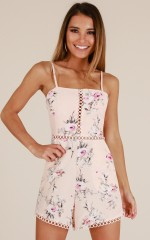 What Happened playsuit in blush floral