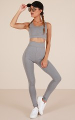 The Limits Tights in Grey Marle