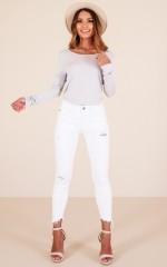 Kristen skinny jeans in white denim