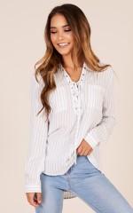 Instant Refresh shirt in blue stripe