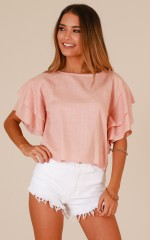 Midnight Train top in dusty pink