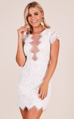 All My Heart dress in white lace